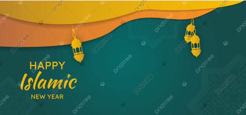 Template Banner Ucapan Tahun Baru Islamic Spanduk Kartu Tahun Gambar Latar Belakang Untuk Unduhan Gratis