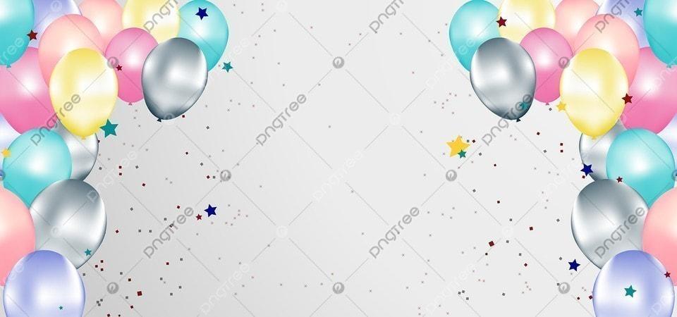 Latar Belakang Balon Ulang Tahun Dengan Warna Ceria, Png, Latar Belakang,  Spanduk Gambar Latar Belakang Untuk Unduhan Gratis