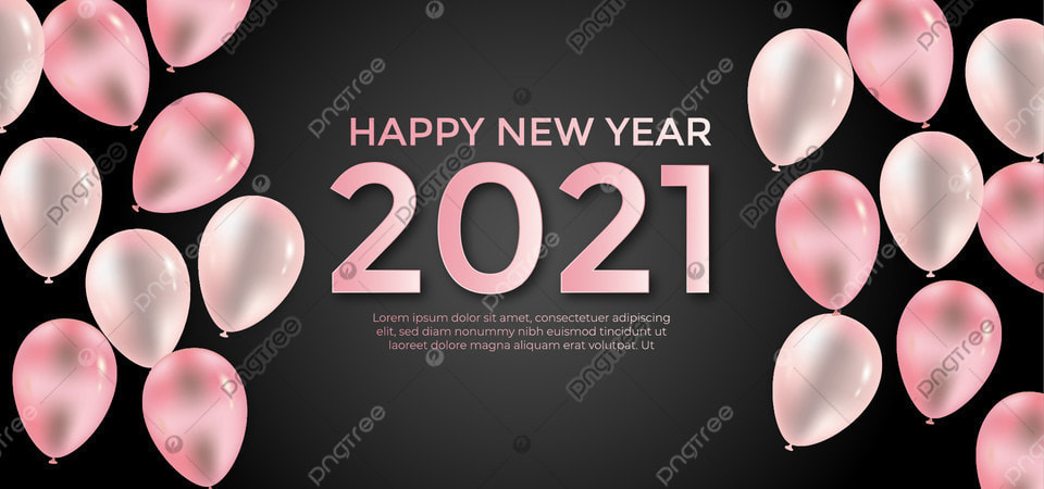 Pink Balloons With Happy New Year Celebration Background Background Invitation Happy Background Image For Free Download