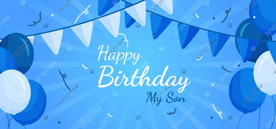 Latar Belakang Ulang Tahun Untuk Anak Laki Laki Dengan Warna Biru,  Perayaan, Ulang Tahun, Pesta Gambar Latar Belakang Untuk Unduhan Gratis