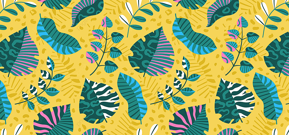Floral Seamless Pattern With Colorful Abstract Tropical Leaves On A Yellow Background Floral Seamless Abstract Background Image For Free Download Exotic yellow and gold iguanas relaxing on timber. https pngtree com freebackground floral seamless pattern with colorful abstract tropical leaves on a yellow background 1206307 html