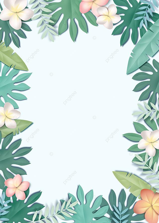 Latar Belakang Perbatasan Bunga Tanaman Berwarna Warni Yang Dipotong Kertas Warna Menanam Bunga Bunga Gambar Latar Belakang Untuk Unduhan Gratis