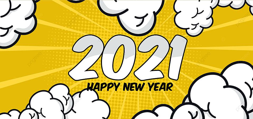 2121 с новым годом фон в стиле поп арт, поп арт, поп арт стиль, 2021  Фоновое изображение для бесплатной загрузки