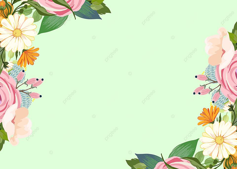 green fresh vintage floral border background frame background flowers background image for free download https pngtree com freebackground green fresh vintage floral border background 1219797 html