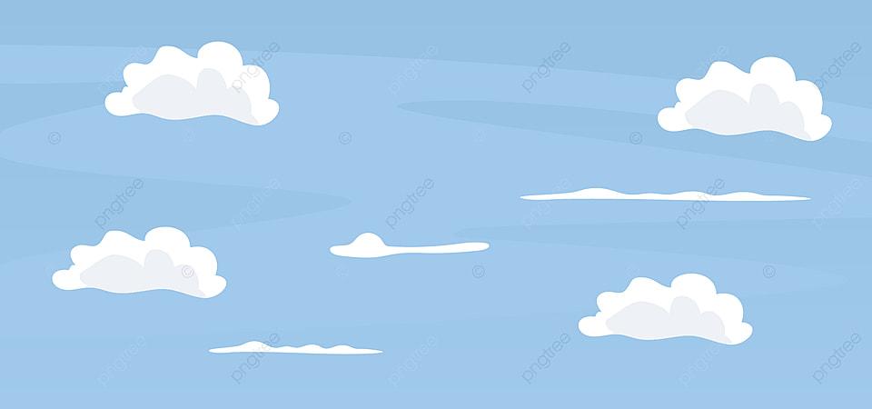 Desain Kartun Latar Belakang Langit Biru, Cat, Horisontal, Gambar Gambar  Latar Belakang Untuk Unduhan Gratis