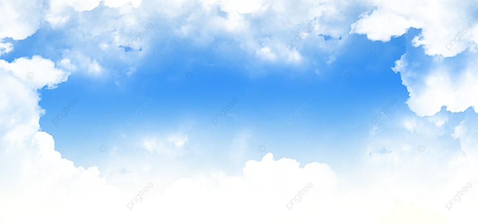 Langit Biru Dengan Latar Belakang Awan Putih Cerah Cerah Hari Dengan Awan  Indah Tersebar Di Langit Biru Cerah, Cerah, Mendung, Wallpaper Gambar Latar  Belakang Untuk Unduhan Gratis