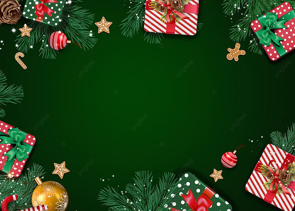 Christmas Green Gift Box Background Christmas Christmas Gift Box Background Image For Free Download