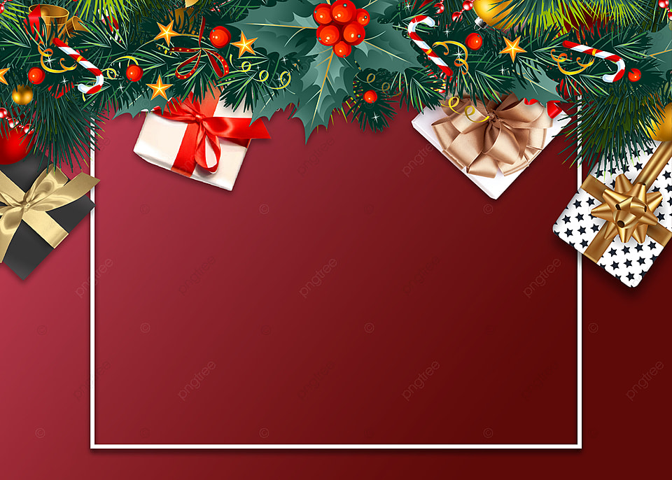 Gift Box Red Christmas Background Christmas Christmas Gift Box Background Image For Free Download