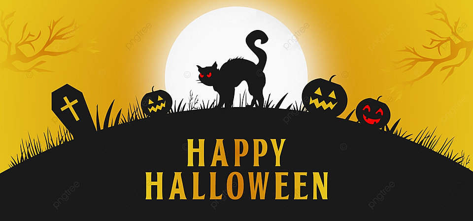 Happy Halloween Yellow Background Halloween Design Night Background Image For Free Download