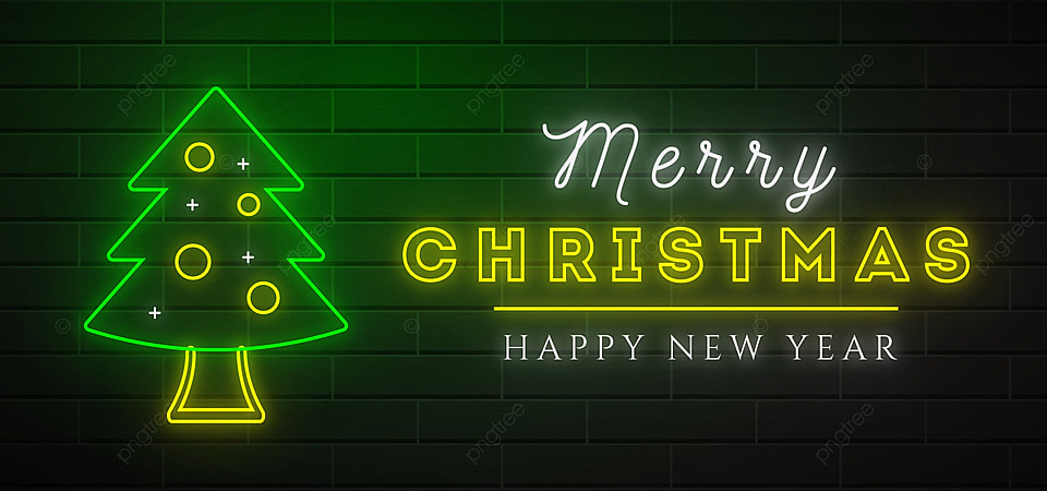 pngtree merry christmas neon design background image 402109