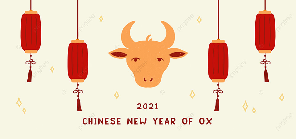 Happy Chinese New Year 2021 Year Of Ox Greeting Background Illustration Background New Year Party Celebration Background Image For Free Download