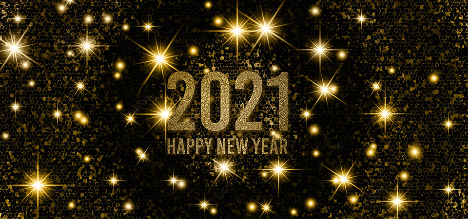 Happy New Year 2021 Background Design With Gold Glitter Happy New Year 2021 Wallpaper Decorative Background Image For Free Download