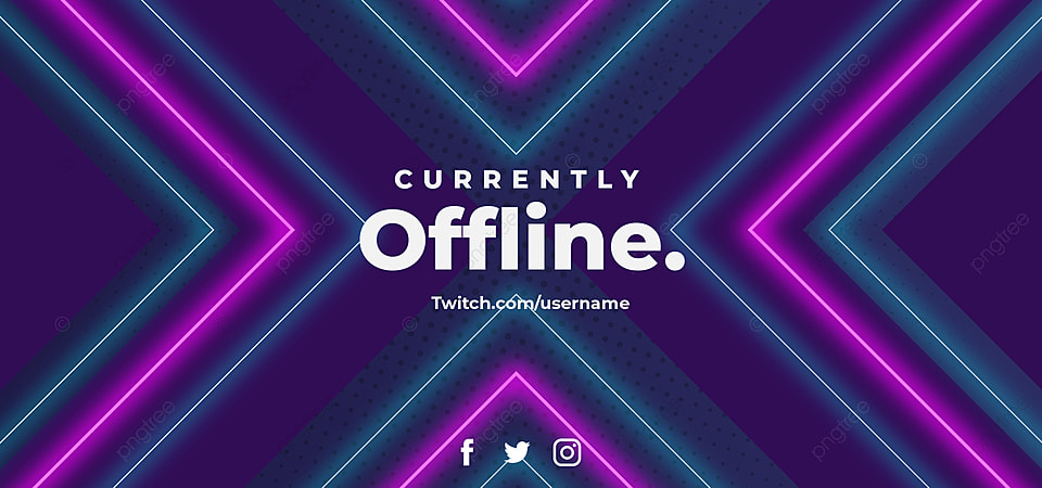 Currently Offline Streaming Streamer Neon Light Glow Banner Background Gaming Background Monday Discount Cyber Background Image For Free Download
