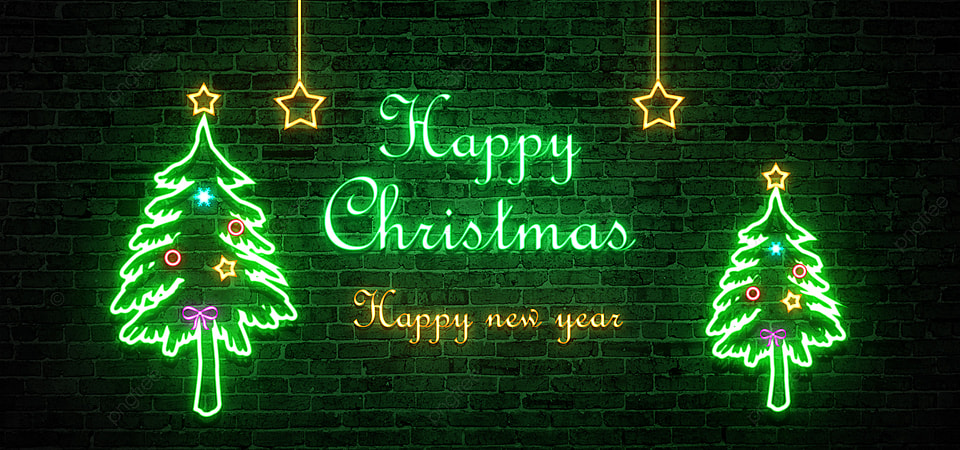 pngtree neon glow happy christmas background image 420499