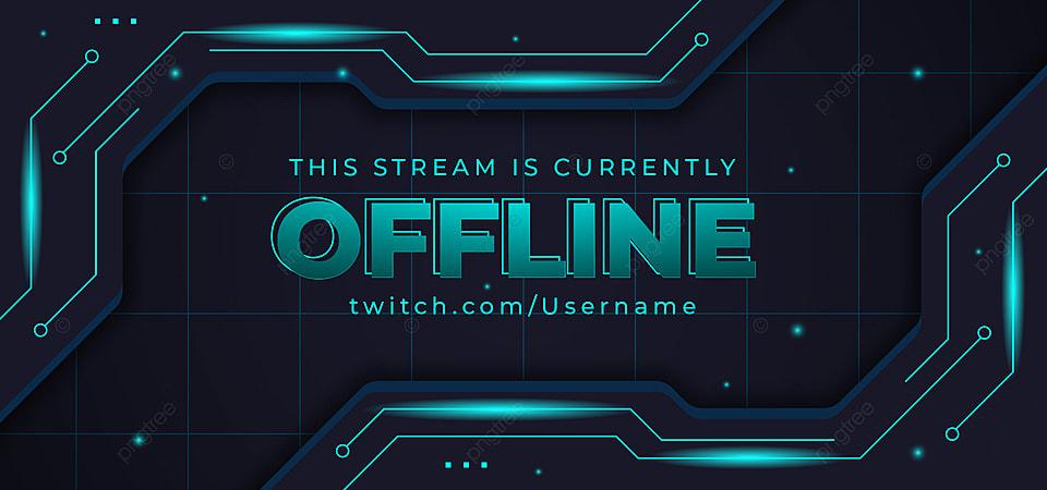 Streaming Offline Gaming Background Banner Technology Glow Dark Neon Offline Stream Graphic Background Image For Free Download