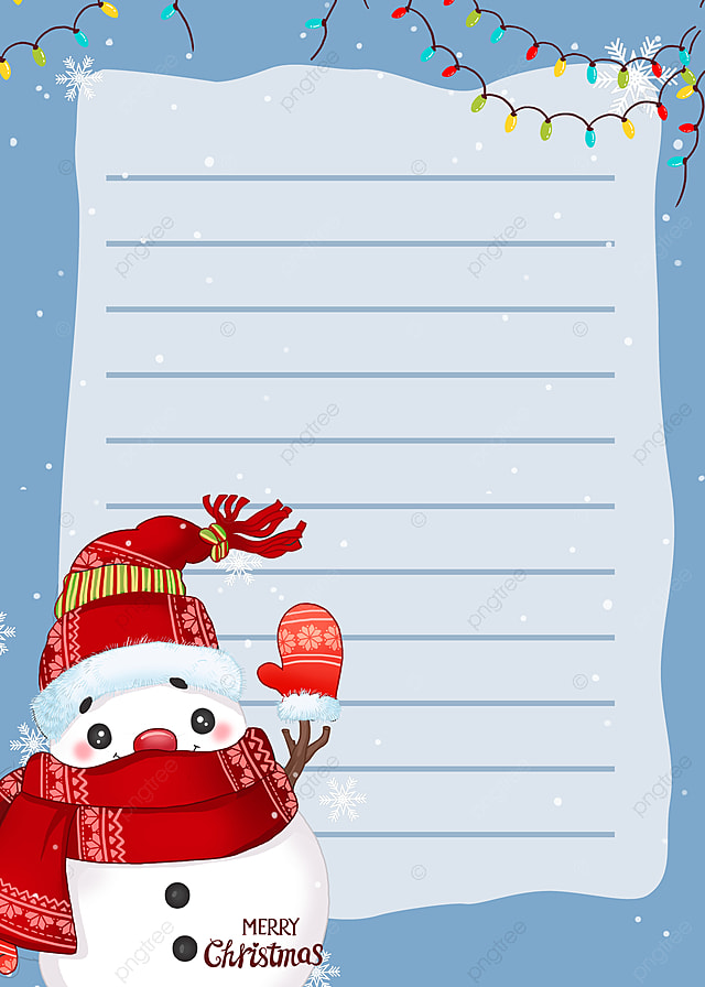 pngtree blue snowman christmas background image 429882