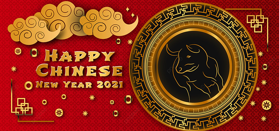 Happy Chinese New Year 2021 Elegant Background Festive Festive Chinese New Year 2021 Background Image For Free Download