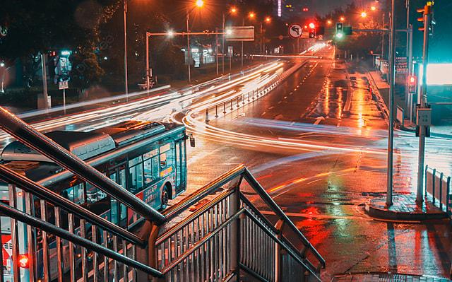 Pemandangan Malam Jalan Kota, Pemandangan Malam, Jalan, Kota Gambar Latar  Belakang Untuk Unduhan Gratis