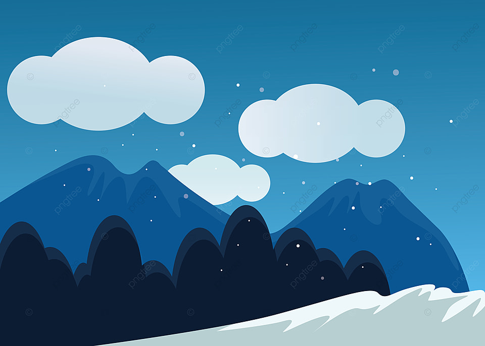 Dramatic Winter Background Night Scene Cool Night Scene Snow Background Image For Free Download