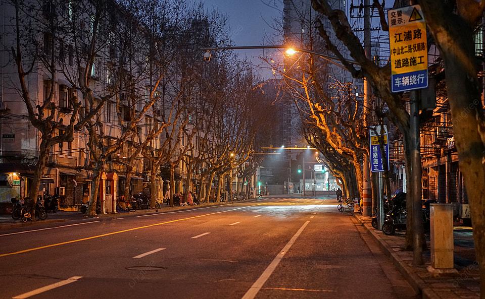 Invierno Ciudad Calle Carretera Calle Noche Vista, Noche, Invierno, Ciudad  Imagen de fondo para descarga gratuita