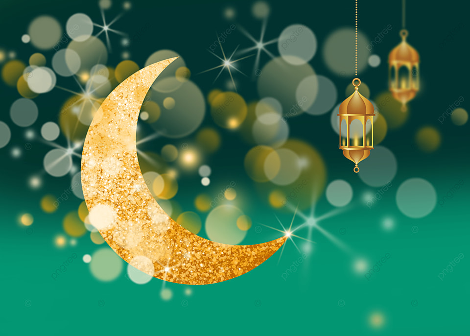 Islamic Eid Mubarak Ramadan Background Islamic Moon Starlight Background Image For Free Download
