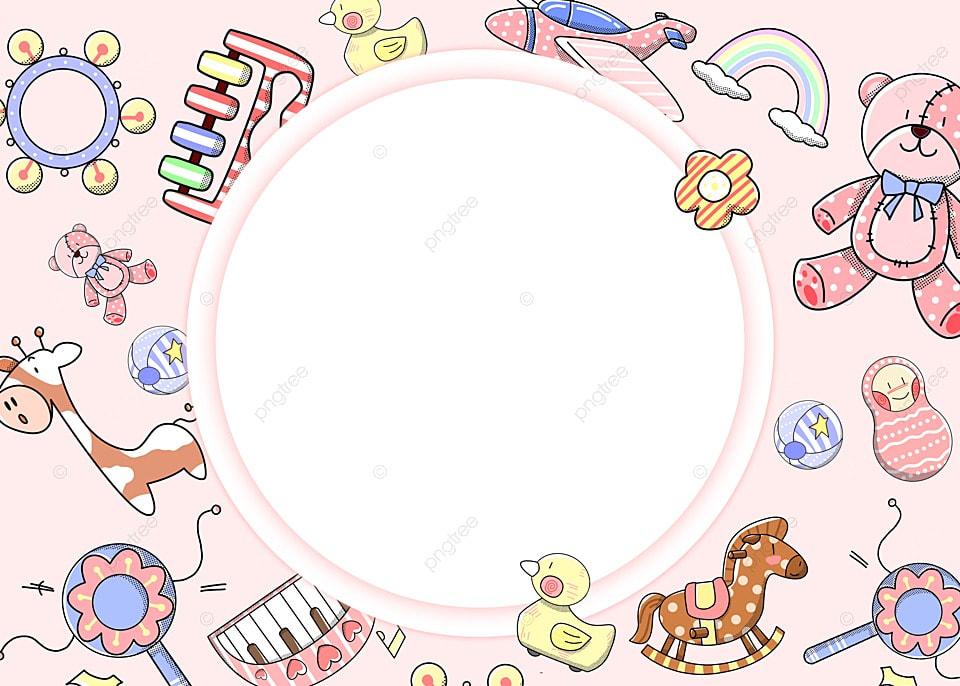 Latar Belakang Mainan Mainan Merah Muda Anak Lucu, Hari Anak, Mainan, Merah  Jambu Gambar Latar Belakang Untuk Unduhan Gratis