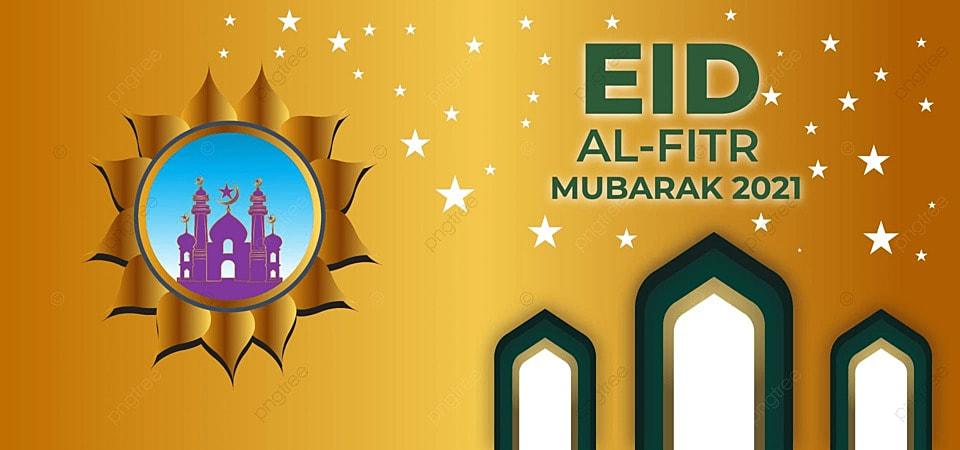 Eid Al Fitr 2021 Golden Gradient Festival Background Image For Free Download