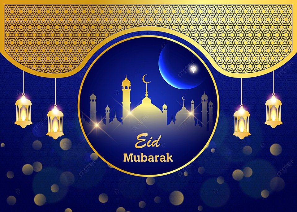 Latar Belakang Eid Mubarak Yang Realistis Dengan Masjid Dan Vektor Bulan Latar Belakang Idul Fitri Mesjid Keemasan Gambar Latar Belakang Untuk Unduhan Gratis